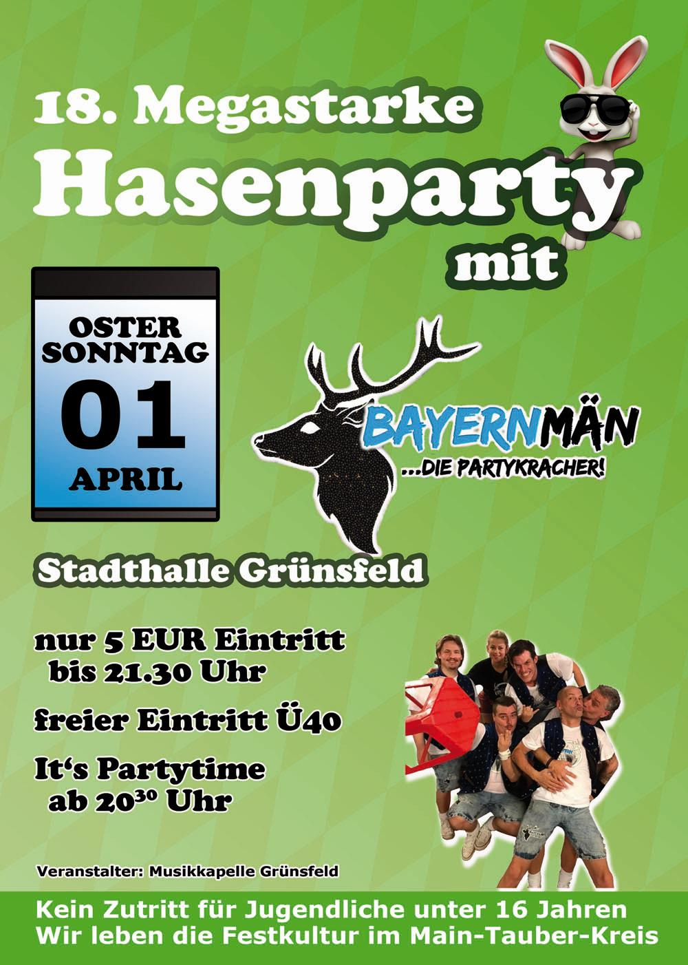 Flyer Hasenparty 2018