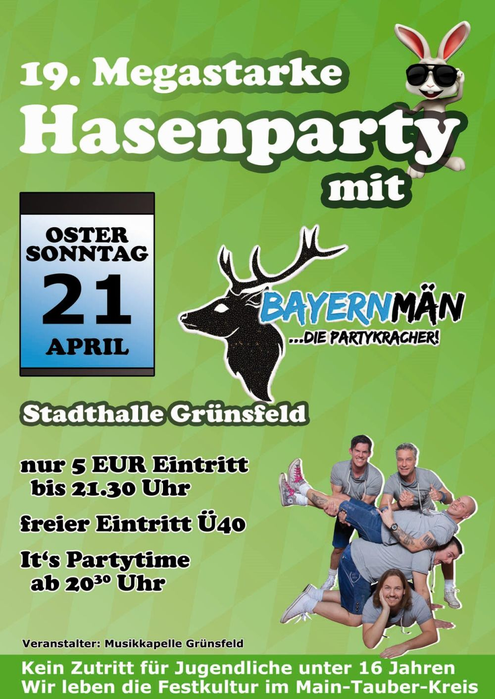 Flyer Hasenparty 2019